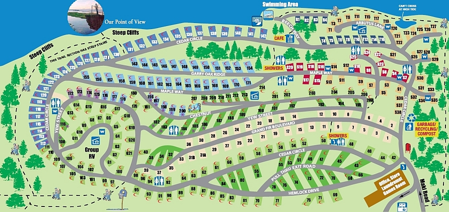 Living Forest Campground Map Living Forest Oceanside Campground + RV Park
