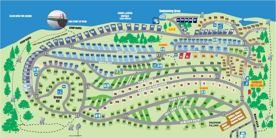 Living Forest Campground Map Living Forest Oceanside Campground and RV Park Living Forest Campground Map